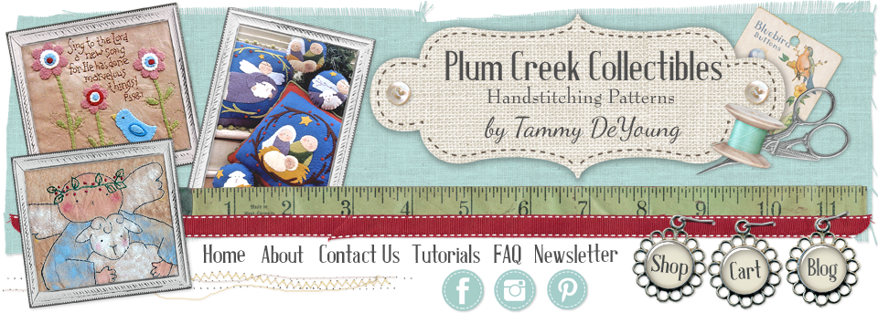 Plum Creek Collectibles Handstitching and Craft Patterns by Tammy DeYoung